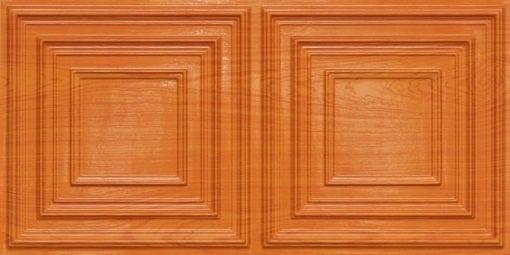 8222 Faux Tin Ceiling Tile - Teakwood