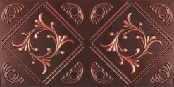 8253 Faux Tin Ceiling Tile - Antique Copper