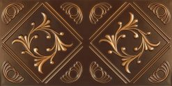 8253 Faux Tin Ceiling Tile - Antique Gold