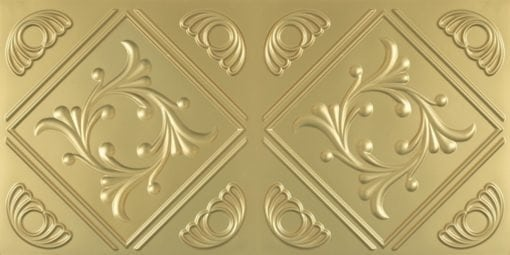 8253 Faux Tin Ceiling Tile - Brass