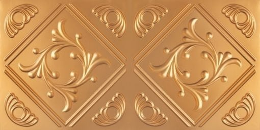 8253 Faux Tin Ceiling Tile - Gold