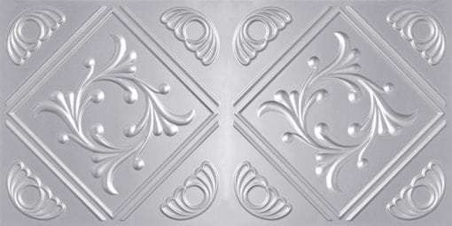 8253 Faux Tin Ceiling Tile - Silver