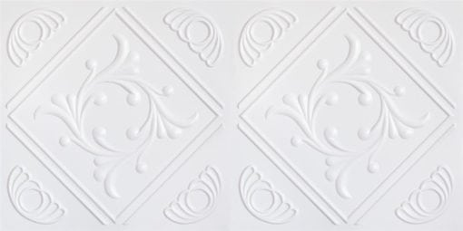 8253 Faux Tin Ceiling Tile - White Pearl
