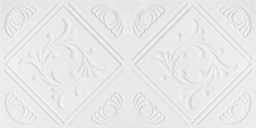 8253 Faux Tin Ceiling Tile - White Matte