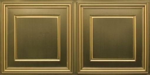 8224 Faux Tin Ceiling Tile - Antique Brass