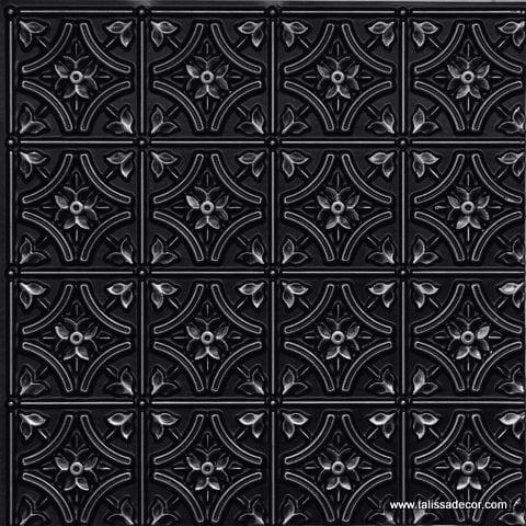 150 Antique Silver Faux Tin Ceiling Tile