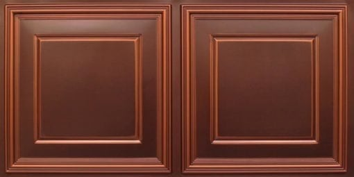 8224 Faux Tin Ceiling Tile - Antique Copper