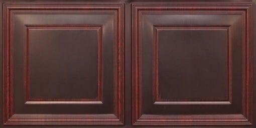 8224 Faux Tin Ceiling Tile - Antique Rosewood
