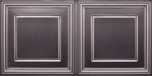 8224 Faux Tin Ceiling Tile - Antique Silver