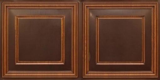 8224 Faux Tin Ceiling Tile - Antique Teakwood