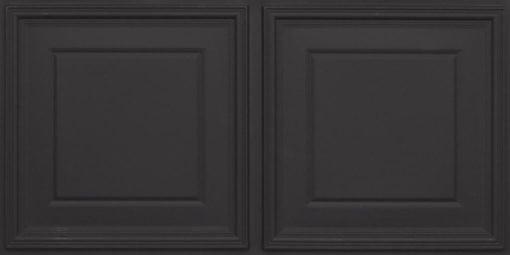 8224 Faux Tin Ceiling Tile - Black Matte