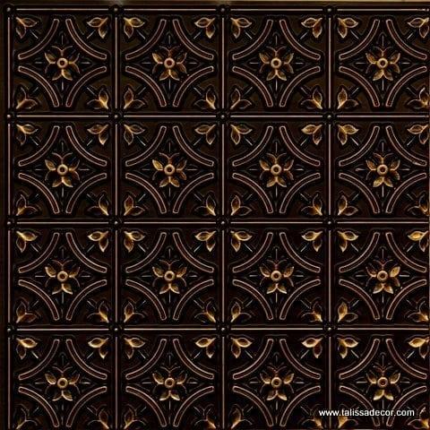 150 Antique Brass Faux Tin Ceiling Tile