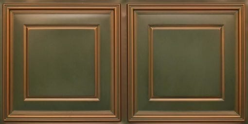 8224 Faux Tin Ceiling Tile - Patina Copper
