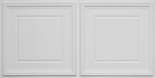8224 Faux Tin Ceiling Tile - White Matte