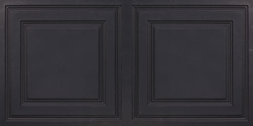 8232 Faux Tin Ceiling Tile - Black Matte