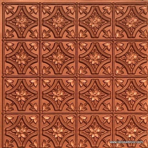 150 Copper Faux Tin Ceiling Tile