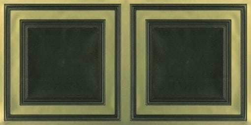 8232 Faux Tin Ceiling Tile - Antique Brass