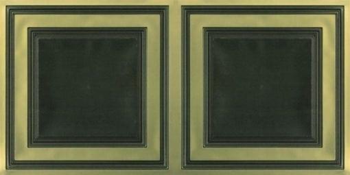 8232 Faux Tin Ceiling Tile - Antique Brass