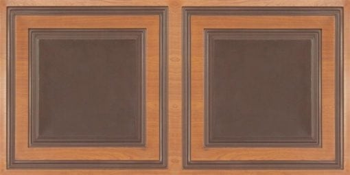 8232 Faux Tin Ceiling Tile - Antique Teakwood