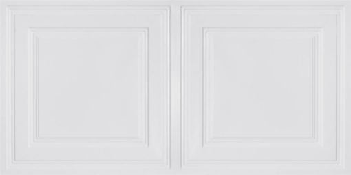 8232 Faux Tin Ceiling Tile - White Matte