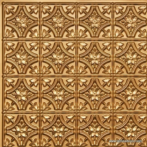 150 Gold Faux Tin Ceiling Tile