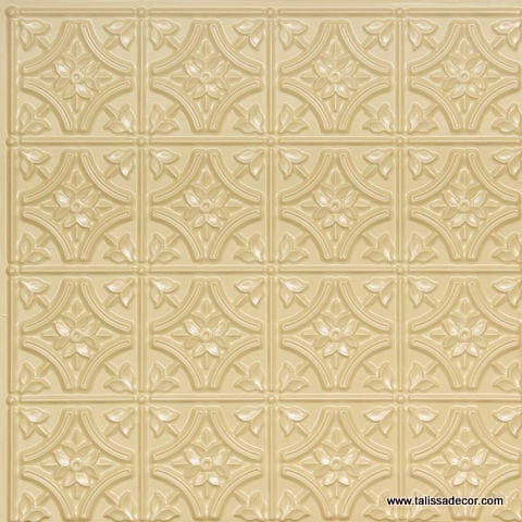 150 Cream Pearl Faux Tin Ceiling Tile