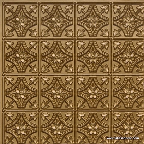 150 Brass Faux Tin Ceiling Tile