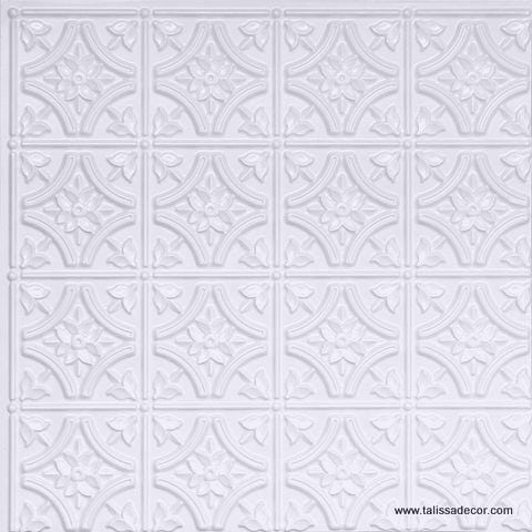 150 White Pearl Faux Tin Ceiling Tile