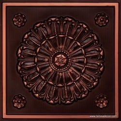 151 Antique Copper Faux Tin Ceiling Tile