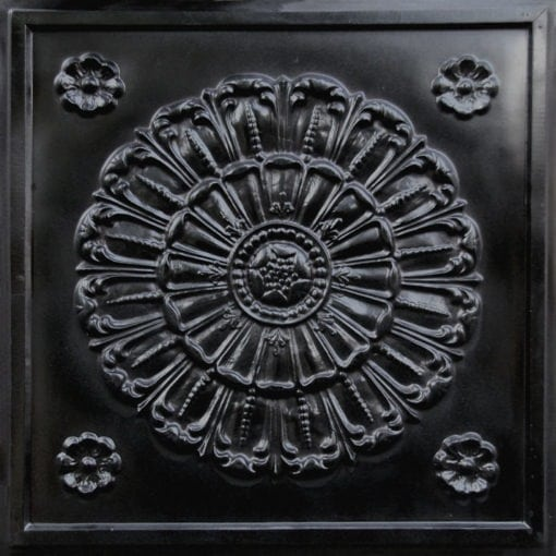 151 Black Glossy Faux Tin Ceiling Tile