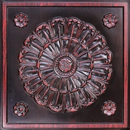 151 Antique Rosewood Faux Tin Ceiling Tile