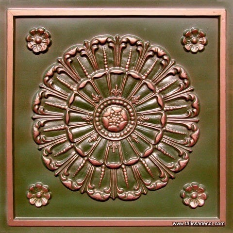 151 Patina Copper Faux Tin Ceiling Tile