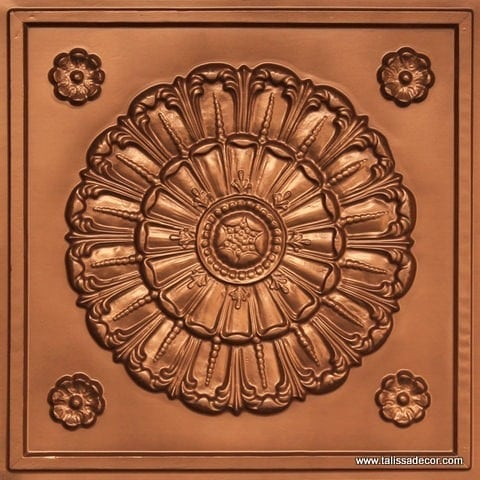 151 Copper Faux Tin Ceiling Tile
