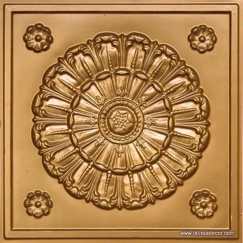 151 Gold Faux Tin Ceiling Tile
