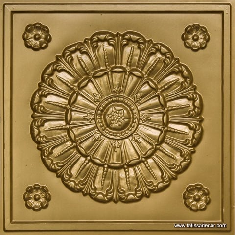 151 Brass Faux Tin Ceiling Tile