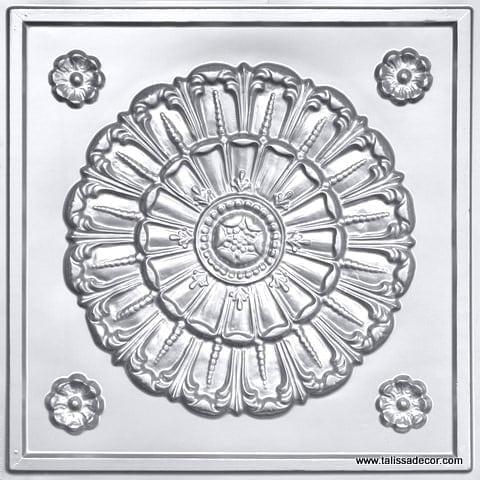 151 Silver Faux Tin Ceiling Tile