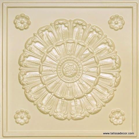 151 Cream Pearl Faux Tin Ceiling Tile