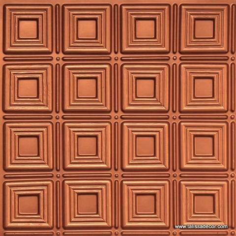 153 Copper Faux Tin Ceiling Tile