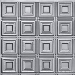 153 Silver Faux Tin Ceiling Tile