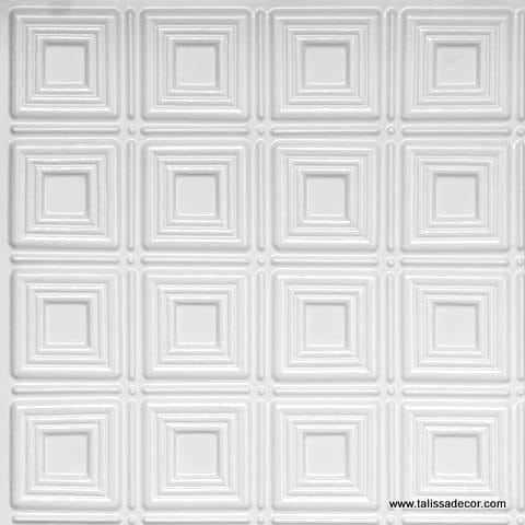 153 White Pearl Faux Tin Ceiling Tile