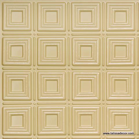 153 Cream Pearl Faux Tin Ceiling Tile