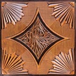 201 Antique Teakwood Faux Tin Ceiling Tile