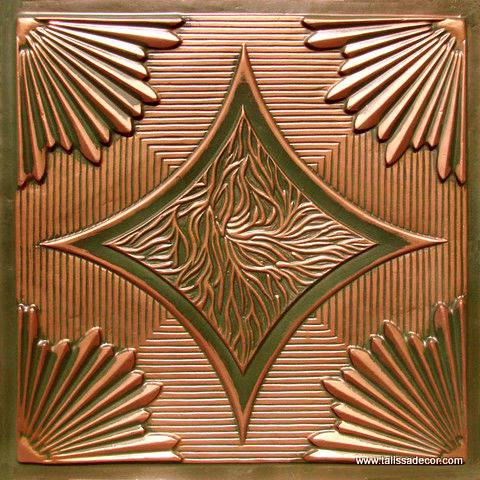 201 Patina Copper  Faux Tin Ceiling Tile