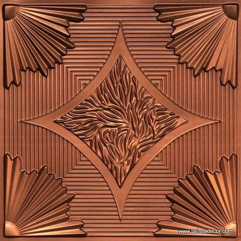 201 Copper Faux Tin Ceiling Tile