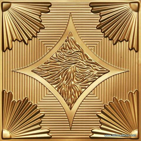 201 Gold Faux Tin Ceiling Tile