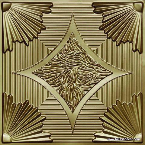 201 Brass Faux Tin Ceiling Tile