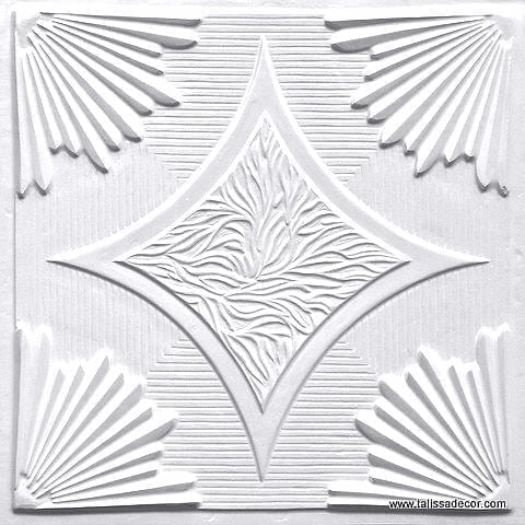 201 White Pearl Faux Tin Ceiling Tile