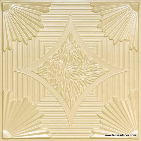 201 Cream Pearl Faux Tin Ceiling Tile