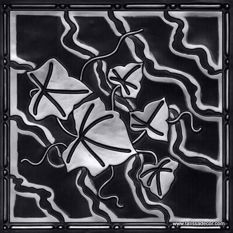 202 Antique Silver Faux Tin Ceiling Tile
