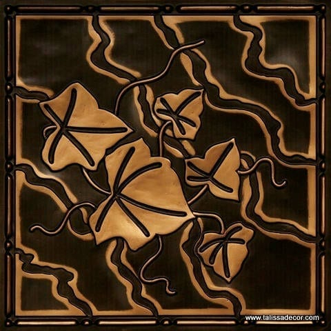202 Antique Gold Faux Tin Ceiling Tile